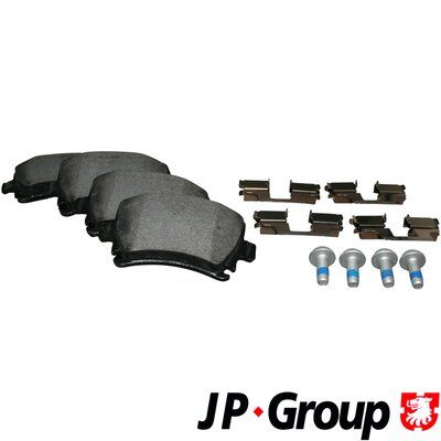 1K0698451DALT JP GROUP Hinterachse, für Verschleißwarnanzeiger vorbereitet Dicke/Stärke: 17,2mm Bremsbelagsatz, Scheibenbremse 1163705410 günstig kaufen