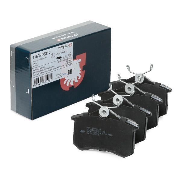 1163706319 JP GROUP Hinterachse, nicht für Verschleißwarnanzeiger vorbereitet Dicke/Stärke: 17,2mm Bremsbelagsatz, Scheibenbremse 1163706310 günstig kaufen