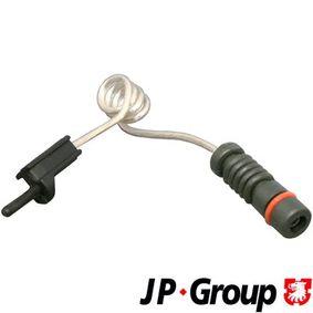 Įsigyti ir pakeisti jutiklis, stabdžių trinkelių susidėvėjimas JP GROUP 1197300100