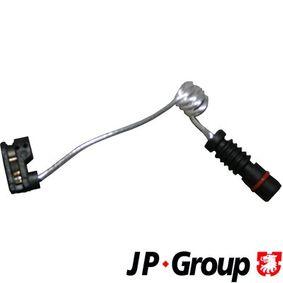 Įsigyti ir pakeisti jutiklis, stabdžių trinkelių susidėvėjimas JP GROUP 1197300400