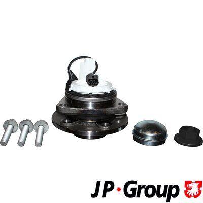 Купете 1241401409 JP GROUP от двете страни на предната ос, с допълнителен материал, с вграден сензор за ABS, с колесен лагер Комплект колесен лагер 1241401400 евтино