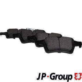 1563701519 JP GROUP Hinterachse, exkl. Verschleißwarnkontakt Dicke/Stärke: 16,6mm Bremsbelagsatz, Scheibenbremse 1563701510 günstig kaufen