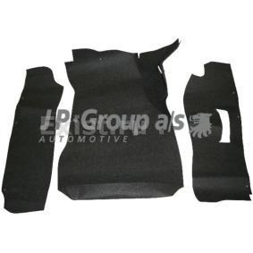 1689500416 JP GROUP Kofferruimte, Zwart, Textiel, Aantal: 3 Vloermatset 1689500410