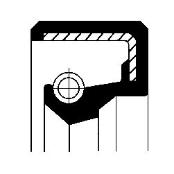 CORTECO Wellendichtring, Kurbelwelle getriebeseitig, FPM (Fluor-Kautschuk) 12001142B APRILIA
