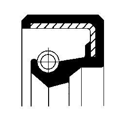 CORTECO Packbox, vevaxel på växellådssidan, FPM (fluor-gummi) 12001142B APRILIA