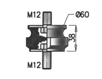 Gummistreifen, Abgasanlage DINEX 21820