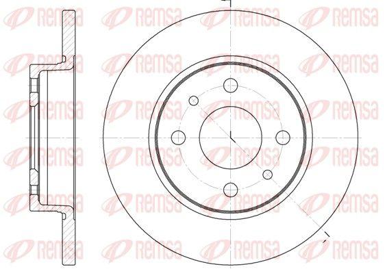 REMSA: Original Bremsscheibe 6089.00 (Ø: 239mm, Ø: 239mm, Lochanzahl: 4, Bremsscheibendicke: 12mm)