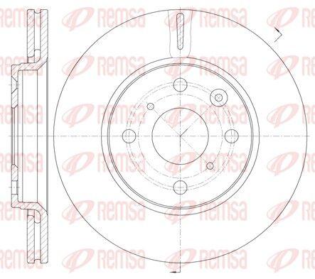 BDM722820 REMSA Vorderachse, belüftet Ø: 247mm, Ø: 247mm, Lochanzahl: 4, Bremsscheibendicke: 20mm Bremsscheibe 61003.10 günstig kaufen