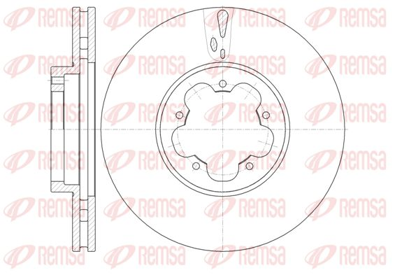 REMSA Спирачен диск 61022.10