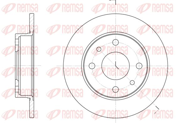 REMSA Brake Disc 6110.00