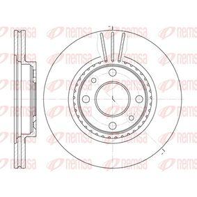 BDM646220 REMSA Vorderachse, belüftet Ø: 259mm, Lochanzahl: 4, Bremsscheibendicke: 20,6mm Bremsscheibe 6144.10 günstig kaufen