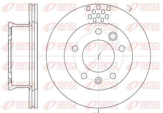 Achat de BDM670620 REMSA Essieu avant, ventilé Ø: 276mm, Ø: 276mm, Nbre de trous: 5, Épaisseur du disque de frein: 22mm Disque de frein 6461.10 pas chères