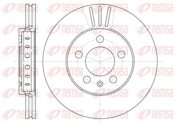 VW Disque de frein d'Origine 6545.10