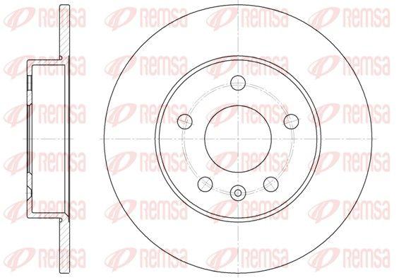 BDM681110 REMSA Zadna naprava, plne Ø: 264mm, Ø: 264mm, Počet otvorov: 5, hrúbka brzdových kotúčov: 10mm Brzdový kotúč 6578.00 kúpte si lacno