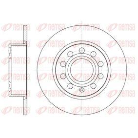 BDM702810 REMSA Hinterachse, Voll Ø: 254,7mm, Lochanzahl: 9, Bremsscheibendicke: 9,9mm Bremsscheibe 6649.00 günstig kaufen