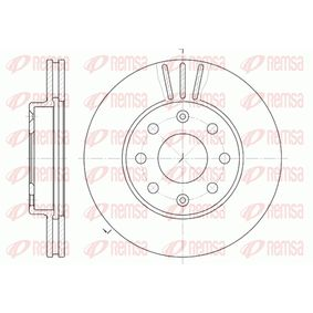 BDM714520 REMSA Vorderachse, belüftet Ø: 235,7mm, Lochanzahl: 6, Bremsscheibendicke: 20mm Bremsscheibe 6655.10 günstig kaufen