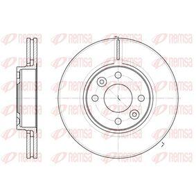 BDM698520 REMSA Vorderachse, belüftet Ø: 259,8mm, Lochanzahl: 4, Bremsscheibendicke: 22mm Bremsscheibe 6683.10 günstig kaufen