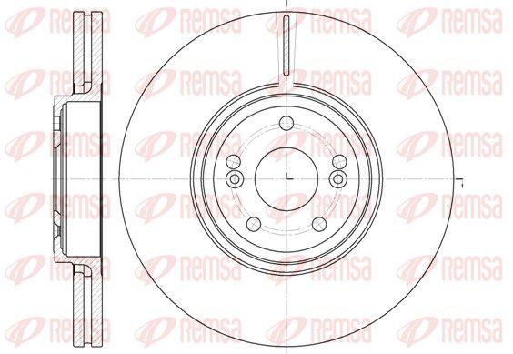 BDM696120 REMSA Vorderachse, belüftet Ø: 323,7mm, Lochanzahl: 5, Bremsscheibendicke: 28mm Bremsscheibe 6695.10 günstig kaufen