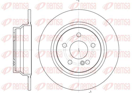BDM699510 REMSA Hinterachse, Voll Ø: 300mm, Ø: 300mm, Lochanzahl: 5, Bremsscheibendicke: 10mm Bremsscheibe 6787.00 günstig kaufen