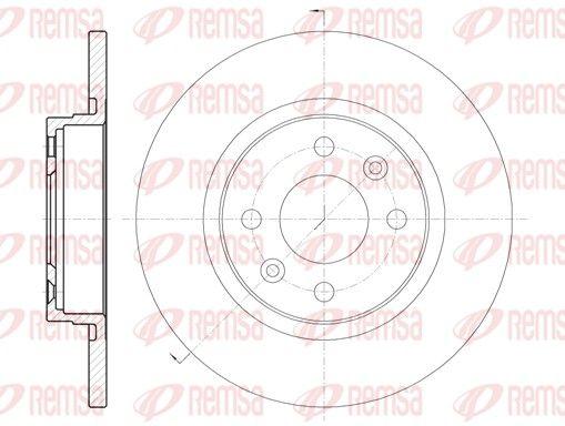 DCA680900 REMSA Vorderachse, Voll Ø: 258,8mm, Ø: 258,8mm, Lochanzahl: 4, Bremsscheibendicke: 12mm Bremsscheibe 6809.00 günstig kaufen