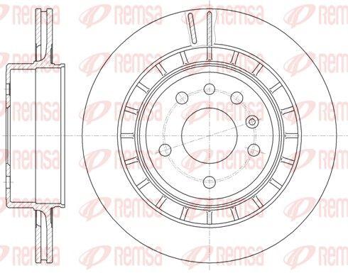 BDM724220 REMSA Hinterachse, belüftet Ø: 300mm, Ø: 300mm, Lochanzahl: 5, Bremsscheibendicke: 20mm Bremsscheibe 6861.10 günstig kaufen