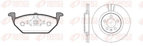 RCA863300 REMSA Vorderachse, Bremsscheibenart: belüftet Bremsscheibendicke: 22mm Bremsensatz, Scheibenbremse 8633.00 günstig kaufen