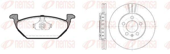 RCA863302 REMSA Vorderachse, Bremsscheibenart: belüftet Bremsscheibendicke: 22mm Bremsensatz, Scheibenbremse 8633.02 günstig kaufen