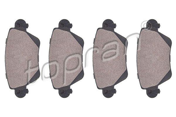 23557 TOPRAN Hinterachse, nicht für Verschleißwarnanzeiger vorbereitet, mit E-Prüfzeichen, mit Montageanleitung, ohne Zubehör Dicke/Stärke 1: 17,2mm Bremsbelagsatz, Scheibenbremse 301 959 günstig kaufen