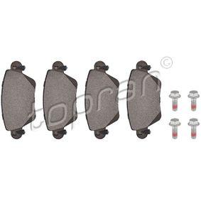 23557 TOPRAN Hinterachse, mit akustischer Verschleißwarnung, mit Bremssattelschrauben, mit Montageanleitung, mit E-Prüfzeichen, mit Zubehör Dicke/Stärke: 17,2mm Bremsbelagsatz, Scheibenbremse 302 051 günstig kaufen