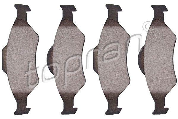 23201 TOPRAN Vorderachse, nicht für Verschleißwarnanzeiger vorbereitet, mit E-Prüfzeichen, mit Montageanleitung, ohne Zubehör Dicke/Stärke 1: 18,8mm Bremsbelagsatz, Scheibenbremse 301 891 günstig kaufen