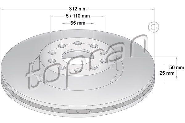 Volkswagen NEW BEETLE TOPRAN Disque de frein 110 073
