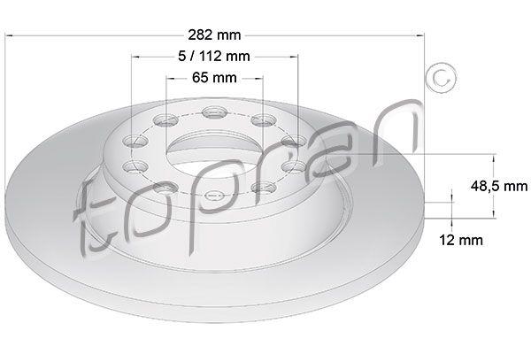 Volkswagen NEW BEETLE TOPRAN Disques de frein 115 893