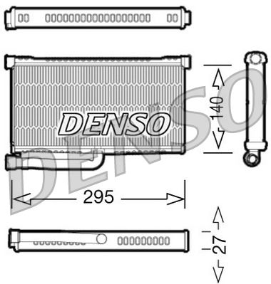 Heizungskühler DENSO DRR02004