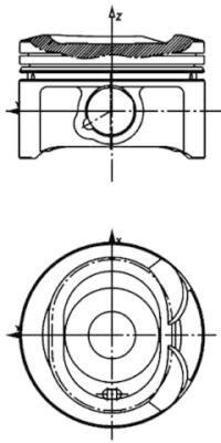 KOLBENSCHMIDT: Original Motor Kolben 40080600 ()