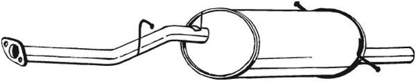 Original Endschalldämpfer 229-063 Subaru
