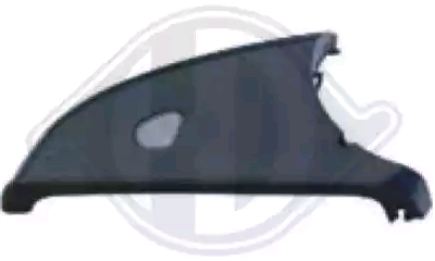 Mercedes A-Class 2015 Cover outside mirror DIEDERICHS 1682328: Lower, Right, Primed, for indicator