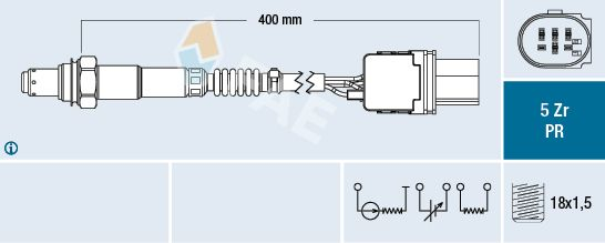 Acheter Sonde à oxygène FAE 75061 à tout moment