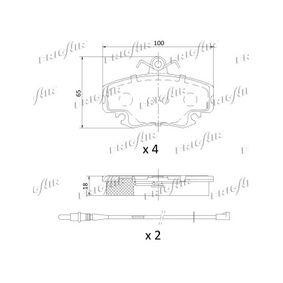 PD09502 Bremsbeläge FRIGAIR PD09.502 - Große Auswahl - stark reduziert