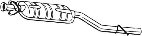 MERCEDES-BENZ PONTON Mittelschalldämpfer - Original BOSAL 175-023