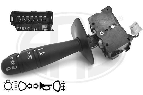 ERA: Original Scheibenwischerschalter 440579 (Anschlussanzahl: 15, mit Blinker-Funktion, mit Fernlicht-Funktion, mit Hupe, mit Lichtumschalt-Funktion, mit Nebelschlussleuchte-Funktion)