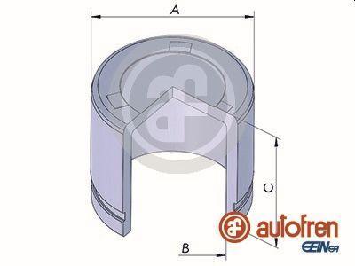 AUTOFREN SEINSA: Original Kolben, Bremssattel D025322 ()