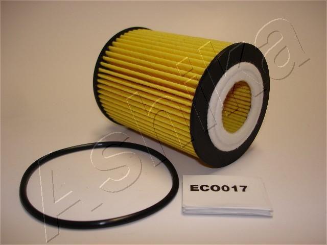 10-ECO017 ASHIKA Filtereinsatz Innendurchmesser: 27mm, Innendurchmesser 2: 9mm, Ø: 62mm, Länge: 88mm, Länge: 88mm Ölfilter 10-ECO017 günstig kaufen