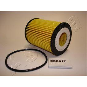 10-ECO017 ASHIKA Filtereinsatz Innendurchmesser: 27mm, Innendurchmesser 2: 9mm, Ø: 62mm Ölfilter 10-ECO017 günstig kaufen