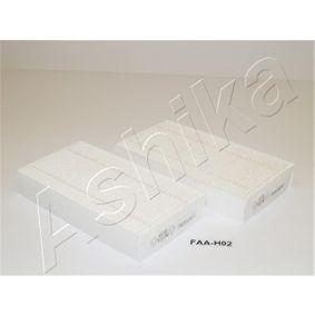 21-H0-H02 ASHIKA Breite: 94,5mm, Höhe: 29,5mm, Länge: 180mm Filter, Innenraumluft 21-H0-H02 günstig kaufen