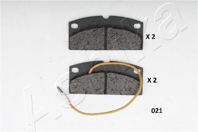 PIAGGIO APE 2016 Bremsbeläge - Original ASHIKA 50-00-021 Höhe: 42mm, Dicke/Stärke: 10mm