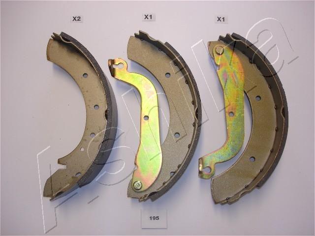 55-01-195 ASHIKA Hinterachse, Ø: 255mm Breite: 57,3mm Bremsbackensatz 55-01-195 günstig kaufen