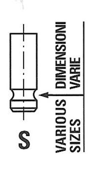 Köp FRECCIA R6741/SNT - Inloppsventil till Honda: Härdad ventilskaftsända, Ventilskaft nitrerat