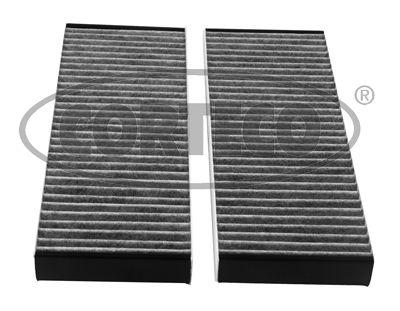 80004780 CORTECO Aktivkohlefilter Breite: 84mm, Höhe: 20mm, Länge: 240mm Filter, Innenraumluft 80004780 günstig kaufen