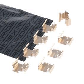 Įsigyti ir pakeisti priedų komplektas, diskinių stabdžių trinkelės RIDEX 1164A0005