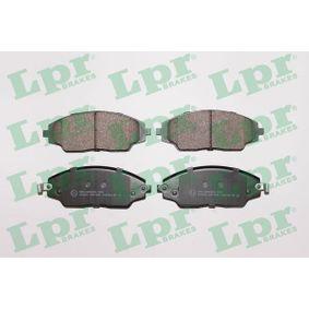 25722 LPR Höhe: 53,6mm, Breite: 142mm, Dicke/Stärke: 17,2mm Bremsbelagsatz, Scheibenbremse 05P1846 günstig kaufen